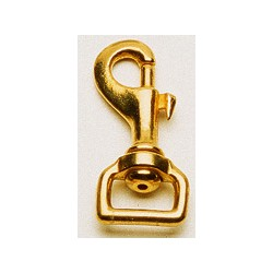 Snap hook, Brass - 72 mm
