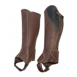Half Chaps Soft Brown Leather