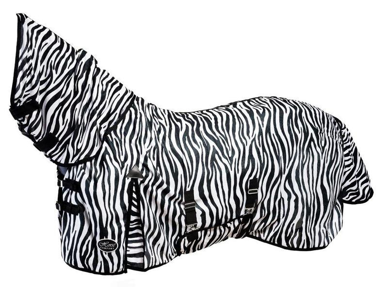 FLY SHEET WITH BODY COVER -ZEBRA, HORSE COMFORT